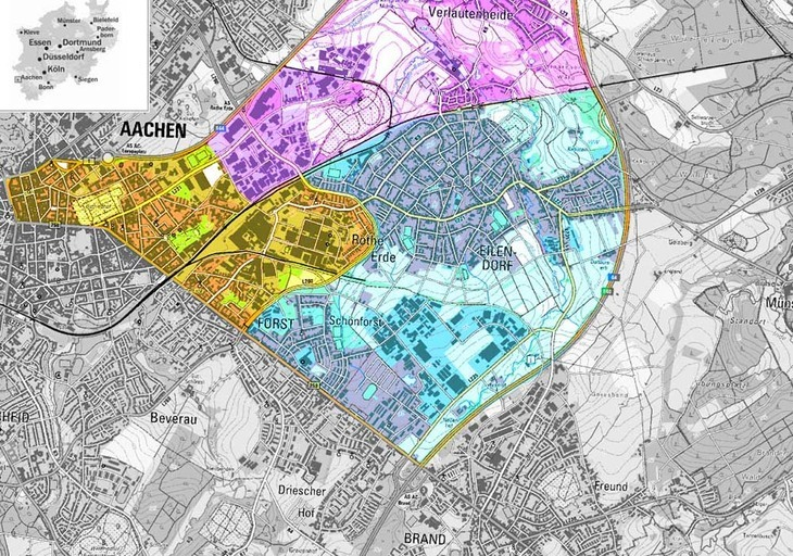 Aachen area divided